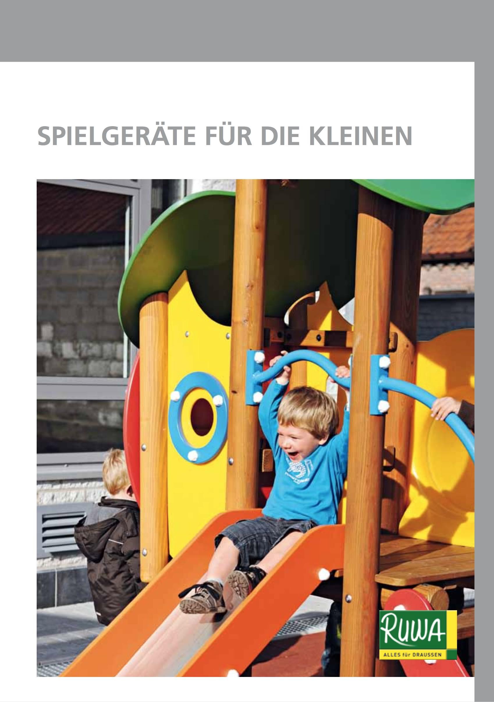 RUWA Blätterkatalog Spielgeräte für die Kleinen