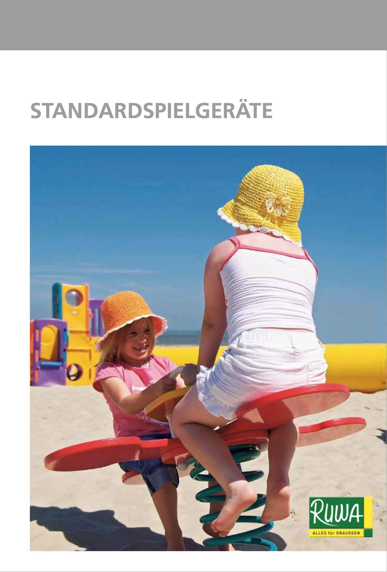 RUWA Blätterkatalog Standardspielgeräte