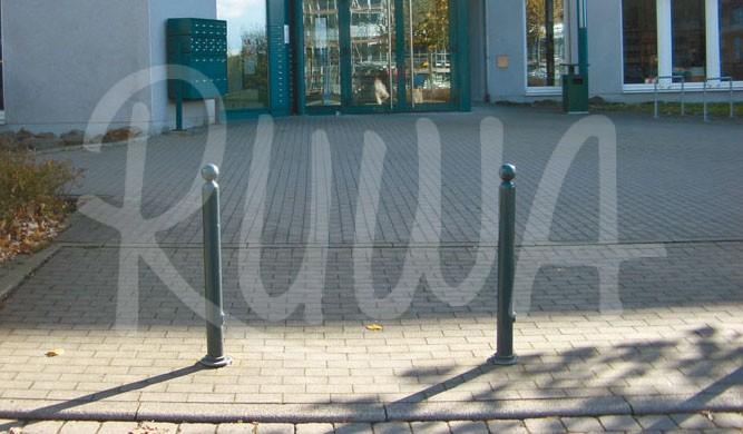 Absperr-Stilpfosten aus Stahlrohr Ø 76 mm - Bild 1