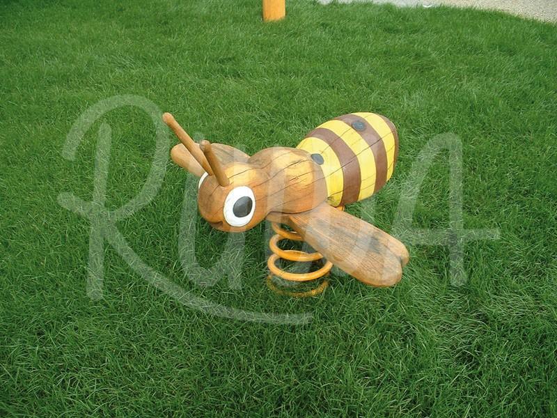 "Federwippe ""Biene"" aus Robinie"