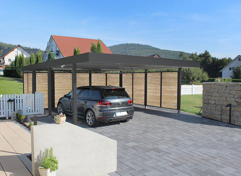 carports aus stahl ruwa gmbh. Black Bedroom Furniture Sets. Home Design Ideas