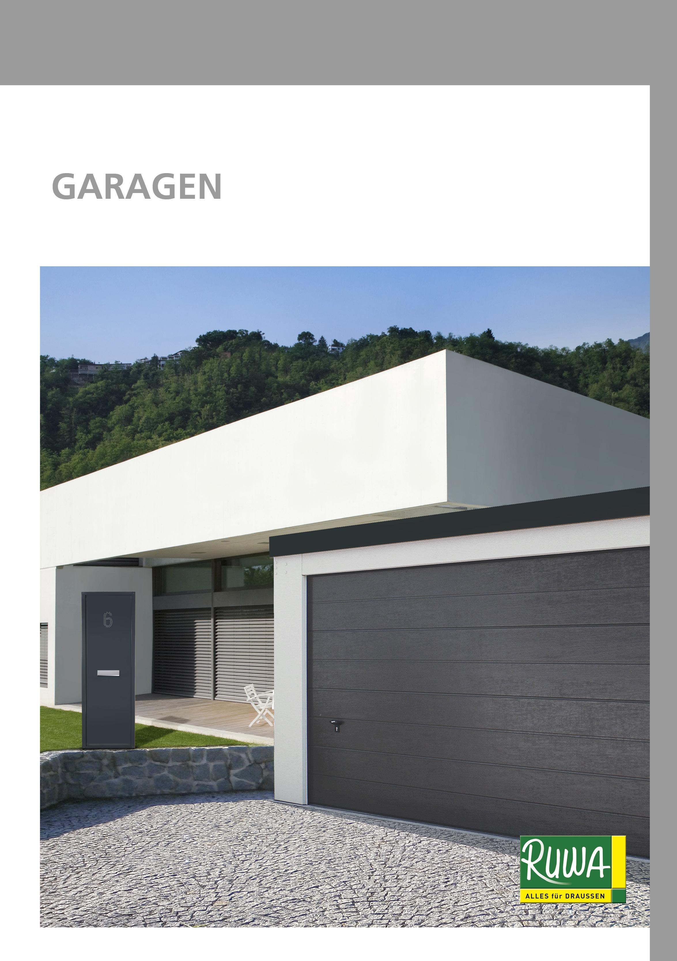 RUWA Blätterkatalog Garagen
