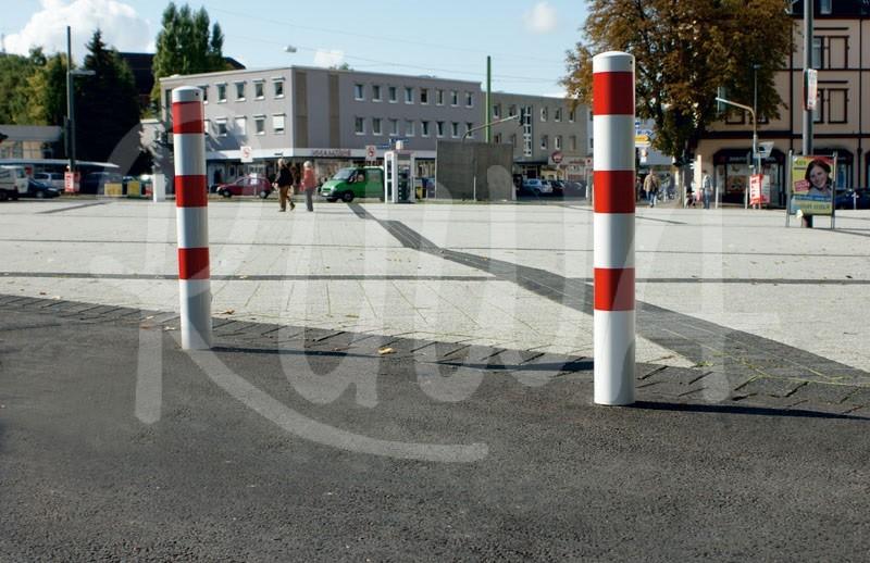 Absperrpfosten Rund aus Stahlrohr Ø 152, Ø 193 und Ø 273 mm - Bild 1