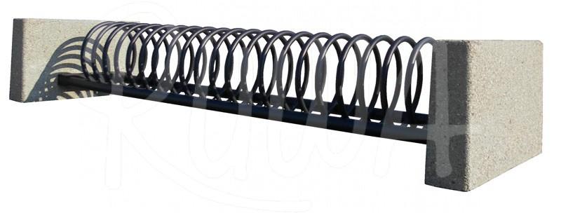Fahrradständer Modell 1020 B zweiseitig mit Betonsockel - Bild 1