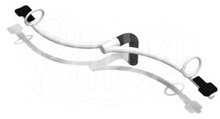 2er Wippbalken geschwungen aus Metall - Bild 1