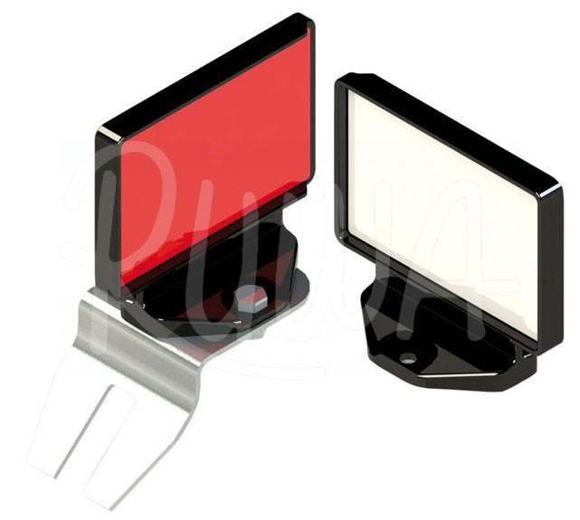 Reflektor für Leitschienen aus Metall /Beton
