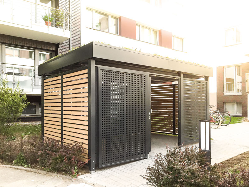 Carport inkl. Geräteräume aus Stahl