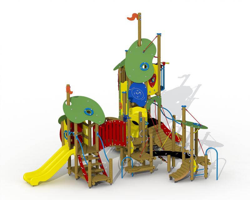 König Blaubart mit Kunststoffrutsche
