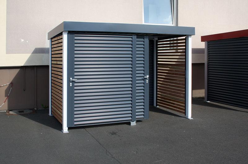 Müllplatzüberdachungen aus Stahl