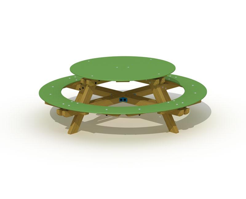 Picknicktisch mit Sitzbank Type 3912 - Bild 1